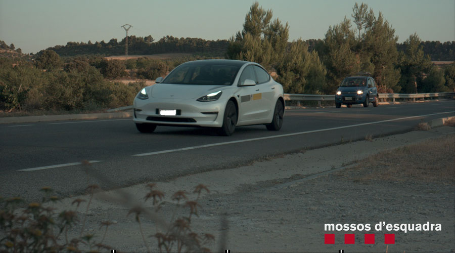 El cotxe 'caçat' pel radar dels Mossos d'Esquadra