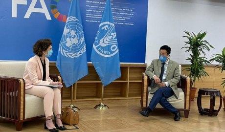 Ubach i Dongyu a la seu de la FAO