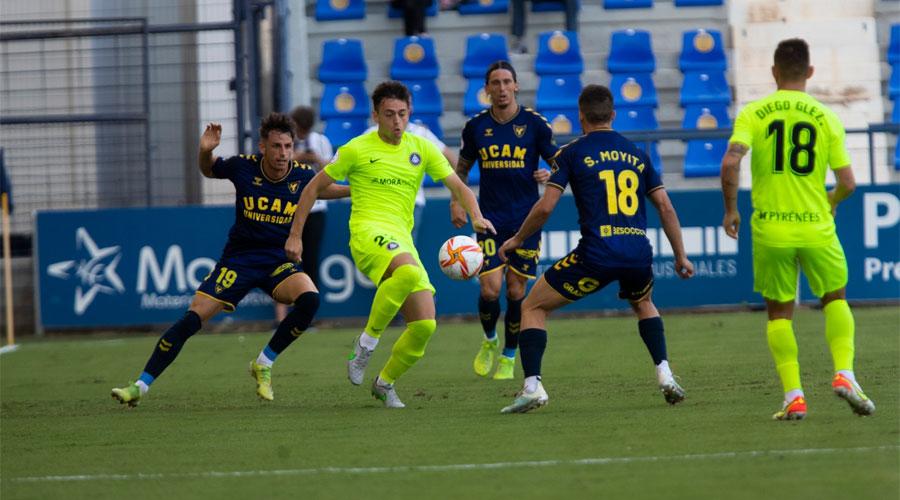 UN moment d'un partit UCAM Murcia vs FC Andorra