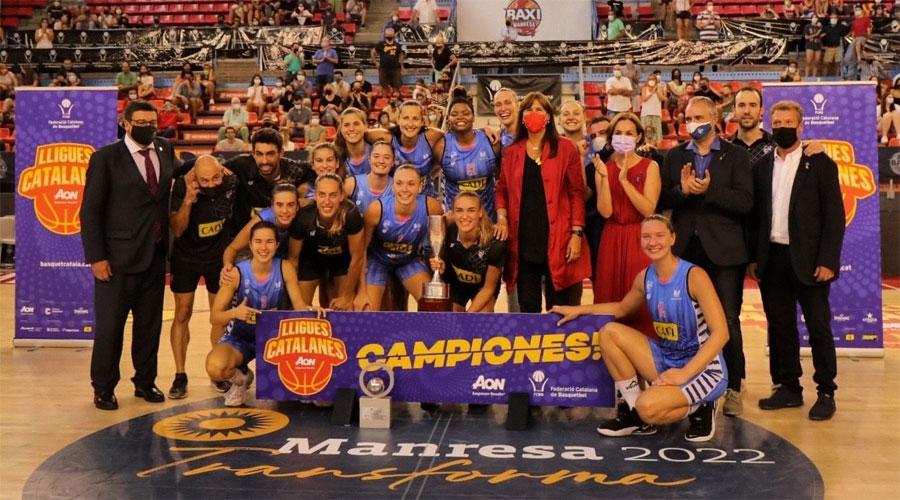 El Cadí La Seu després de guanyar la Lliga Catalana Femenina 2021