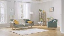 sala d'estar amb colors clars