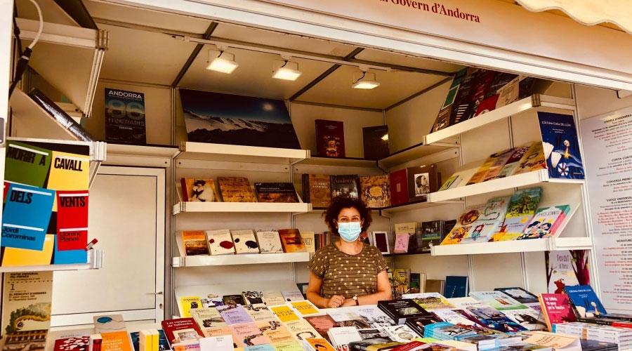 Estand d'Andorra la Setmana del llibre en català 2021