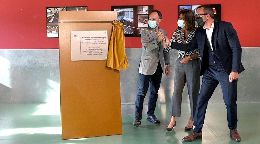 Espot, Vilarrubla i Filloy en la inauguració de l'ampliació de l'Escola Andorrana d'Andorra la Vella i Santa Coloma