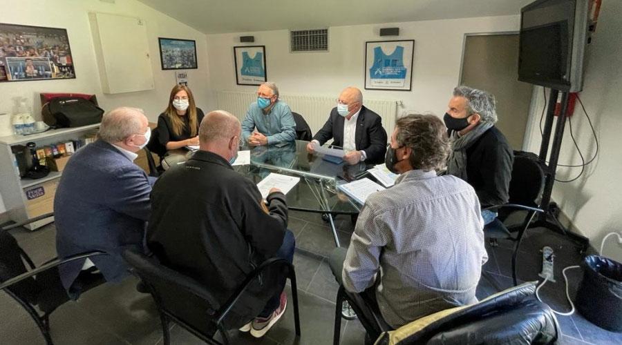 Reunió de treball de Riva i Ruiz amb el COA