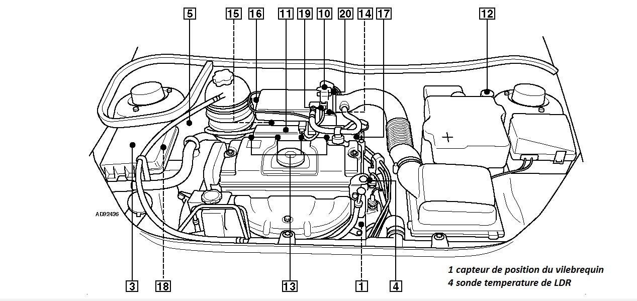Schema moteur 206 1 4 essence