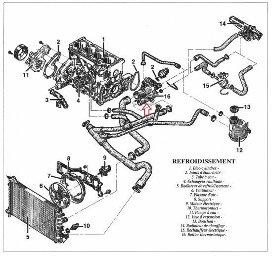 schema moteur renault scenic 1.9 dti
