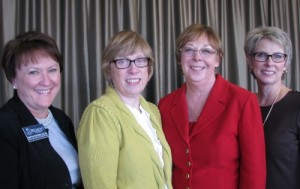 Pictured from left to right are Dr. Martha Buckner, Dr. Wendy Nehring, Dr. Linda Flynn and Dr. Cathy Taylor.