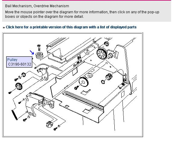 Antriebsriemen im Plotter HP DJ 450C A0 (CAD sonstige