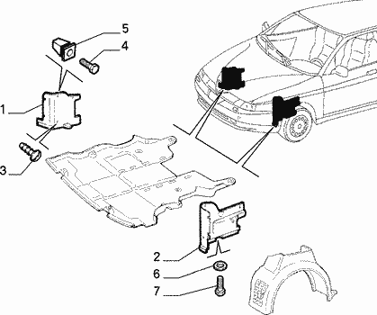 Alfa 147 versione Moving : assenza paramotore inferiore