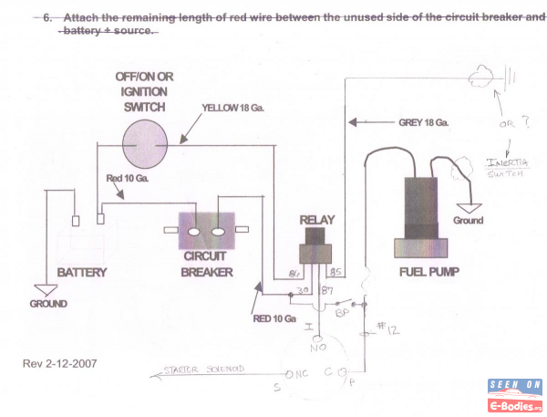 Wiring elec fuel pump questions, relay location? oil