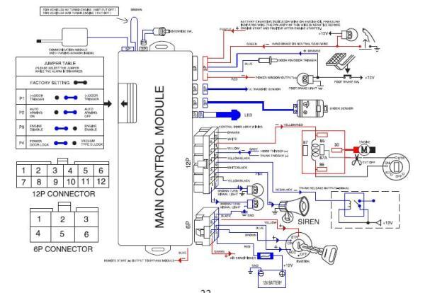 auto command remote starter wiring diagram, Wiring diagram
