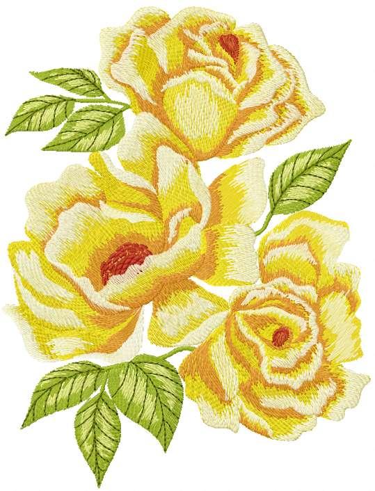 yellow rose free machine