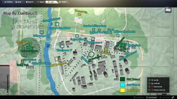 Shoreline Map With Scavs Loot Locations Escapefromtarkov