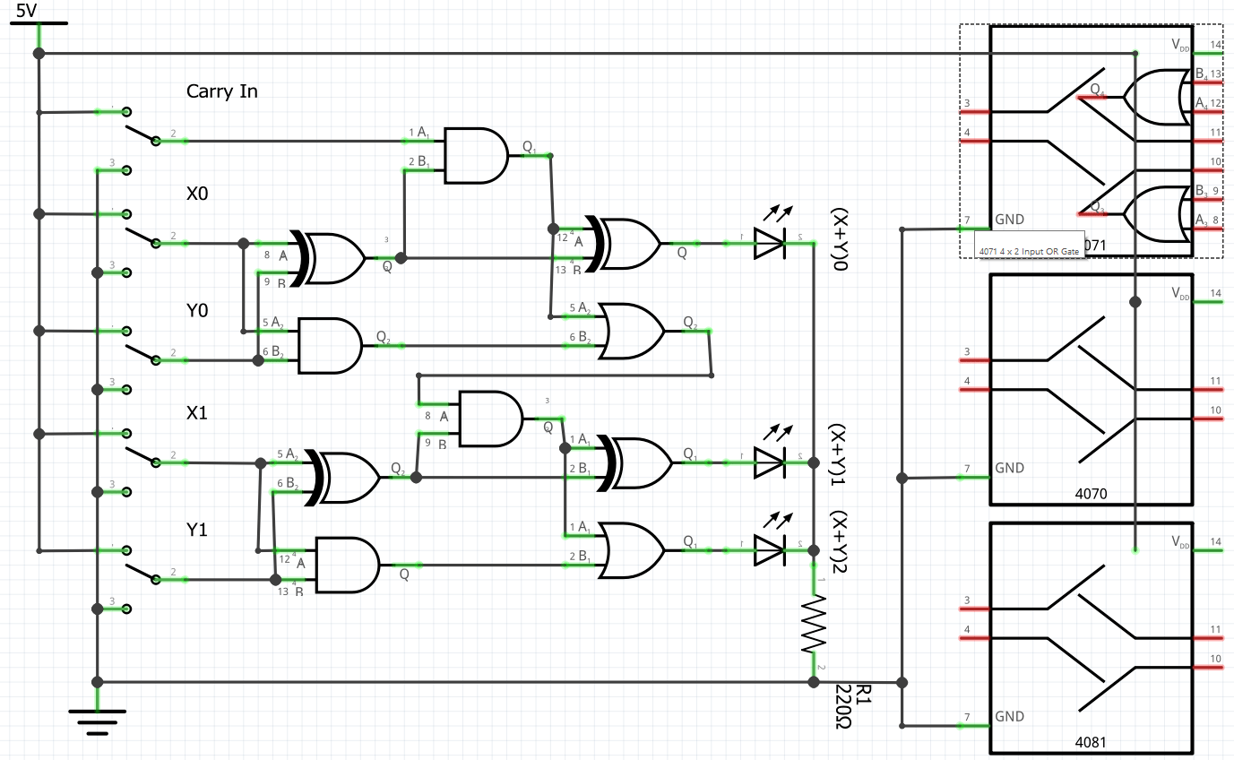 4 Bit Adder Schematic