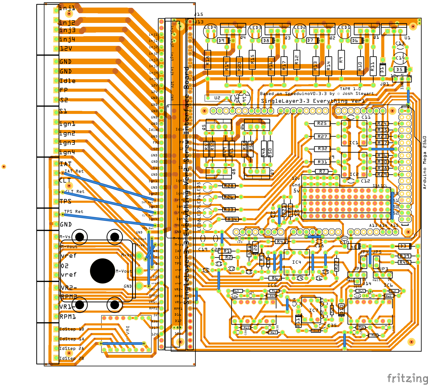 Creating A Pcb In Everything Friends Dont Let Use Fritzing For Minute Say You Have To Create Circuit Board Of Some Sort Just Need Spend More Hours On It I Made This Which Has Parts Created So Can Be Done