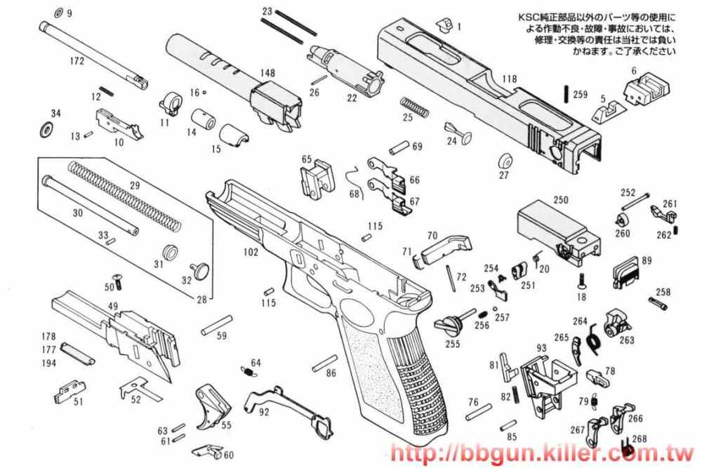 medium resolution of kwa g18c diagram wiring diagram sample diagrama glock 18c