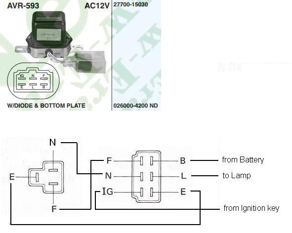 alternator wiring diagram external regulator 3 phase 5 pin plug 2h questions - identifying a 24v vs 12v externally regulated | ih8mud forum