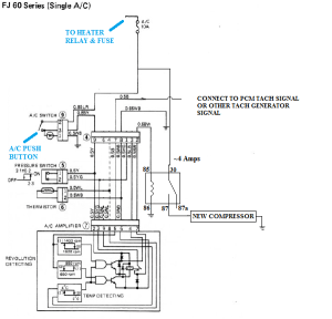 V8 Swap Compressor with Toyota AC wiring diagram | IH8MUD