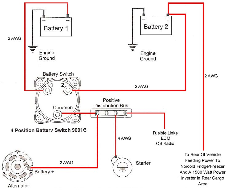 battery selector switch wiring diagram selector switch wiring diagram at soozxer.org