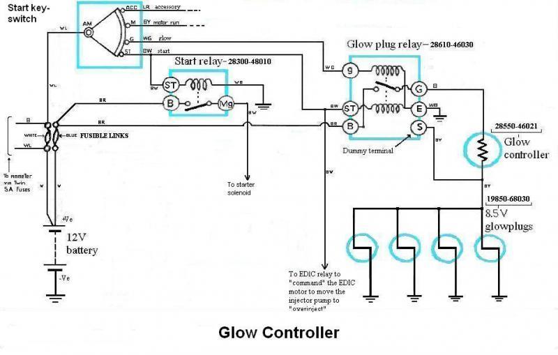 Simple 12 Volt Glow Plug Wiring Diagram Glow Plug Voltage