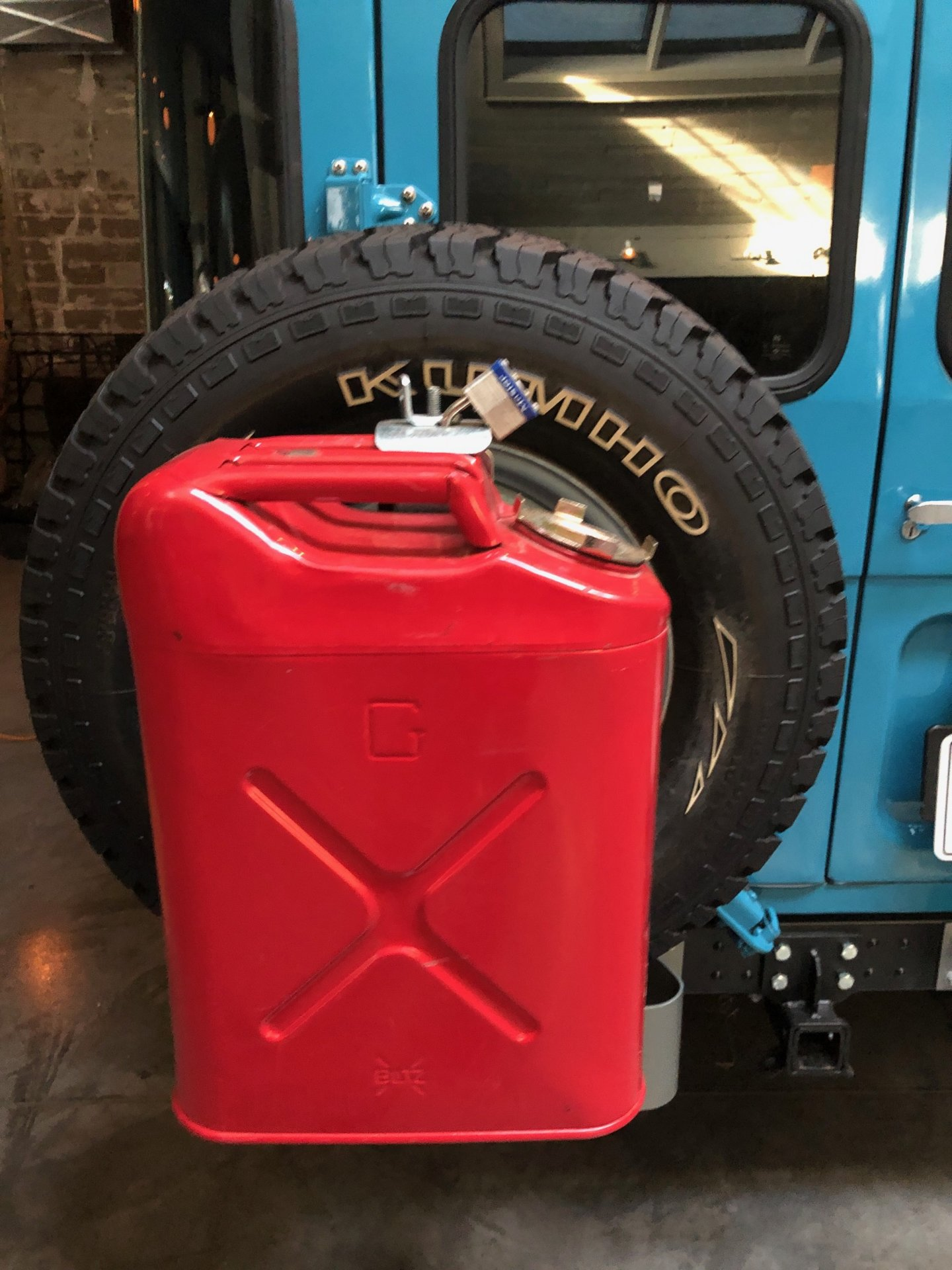 Spare Tire Jerry Can Mount : spare, jerry, mount, Holder, Spare, Direct, Mount, IH8MUD, Forum