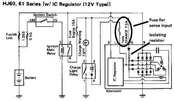 toyota voltage regulator wiring diagram