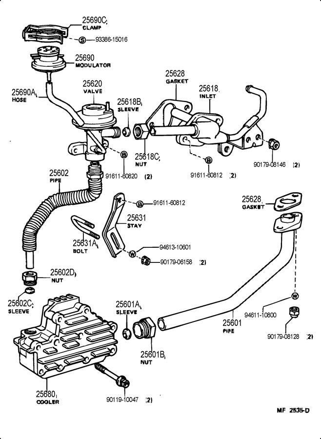 What Is The Diagram Of Hoses Connection Of Egr Valve