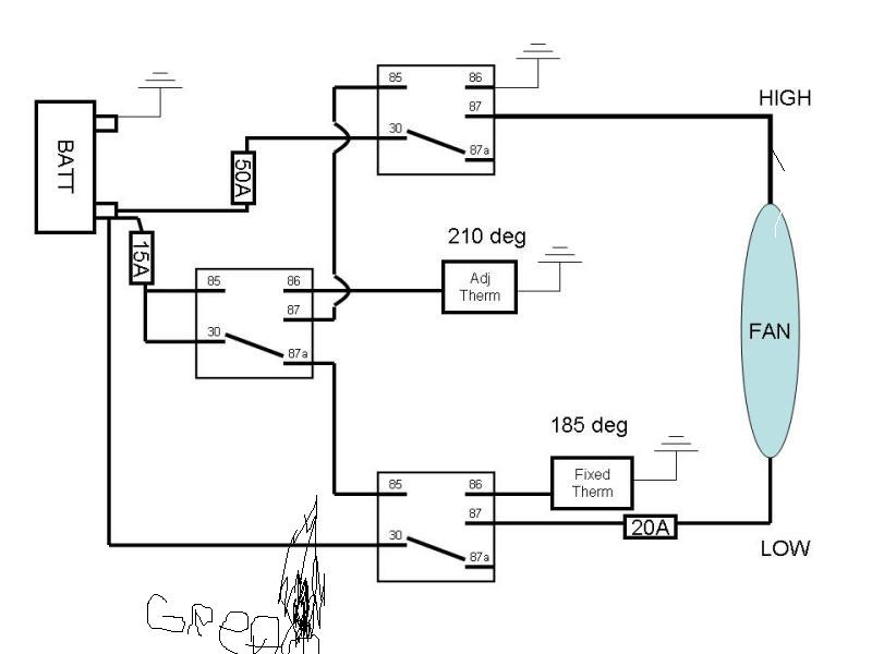 wiring electric fan temperature switch