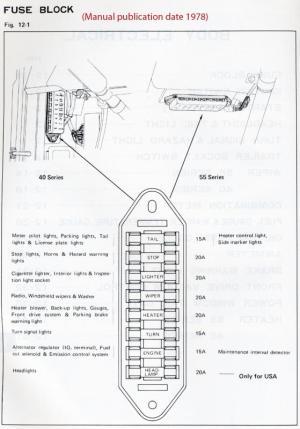 Fuse block diagram for 78 FJ40   IH8MUD Forum
