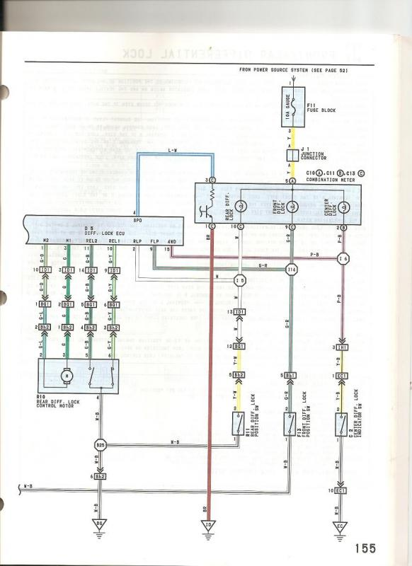 4 Wire Trailer Connector Diagram On Truck Wiring Trd Elockers With An Fzj80 Elocker Ecu And Switch