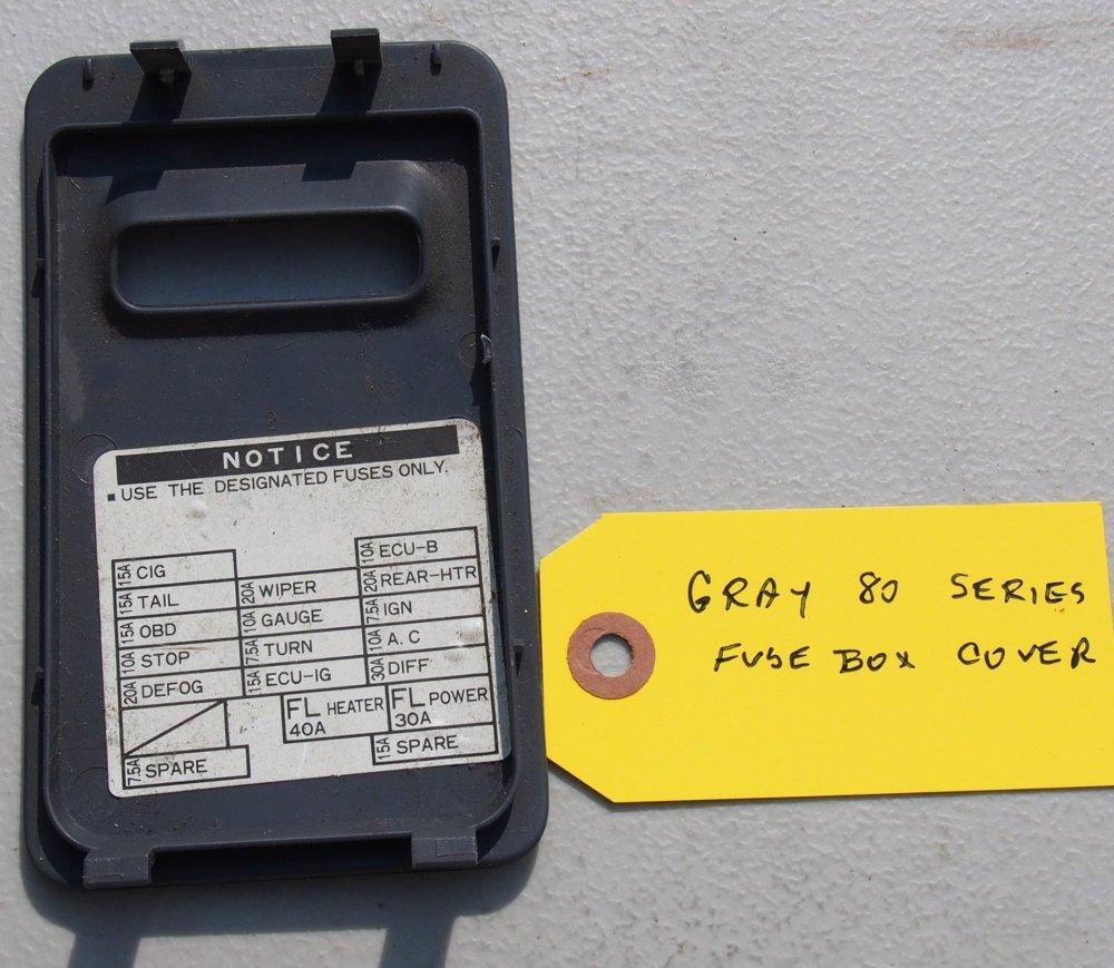 medium resolution of gray 80 series fuse box cover