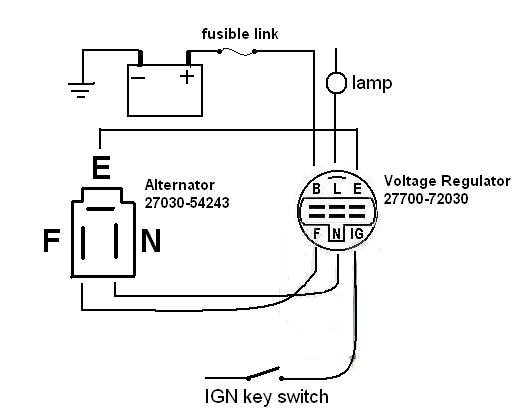 toyota denso 3 wire alternator wiring diagram get image about