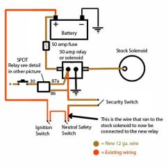 Basic Ford Solenoid Wiring Diagram E36 Headlight Starter Ignition Circuit Thought Ih8mud Forum Bypass With Push Button Relay Jpg