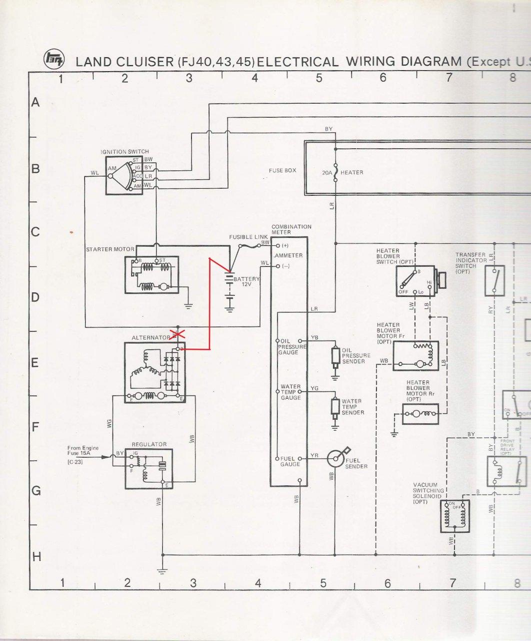 1976 toyota fj40 wiring diagram air conditioning cycle alternator help on 350 swap ih8mud forum