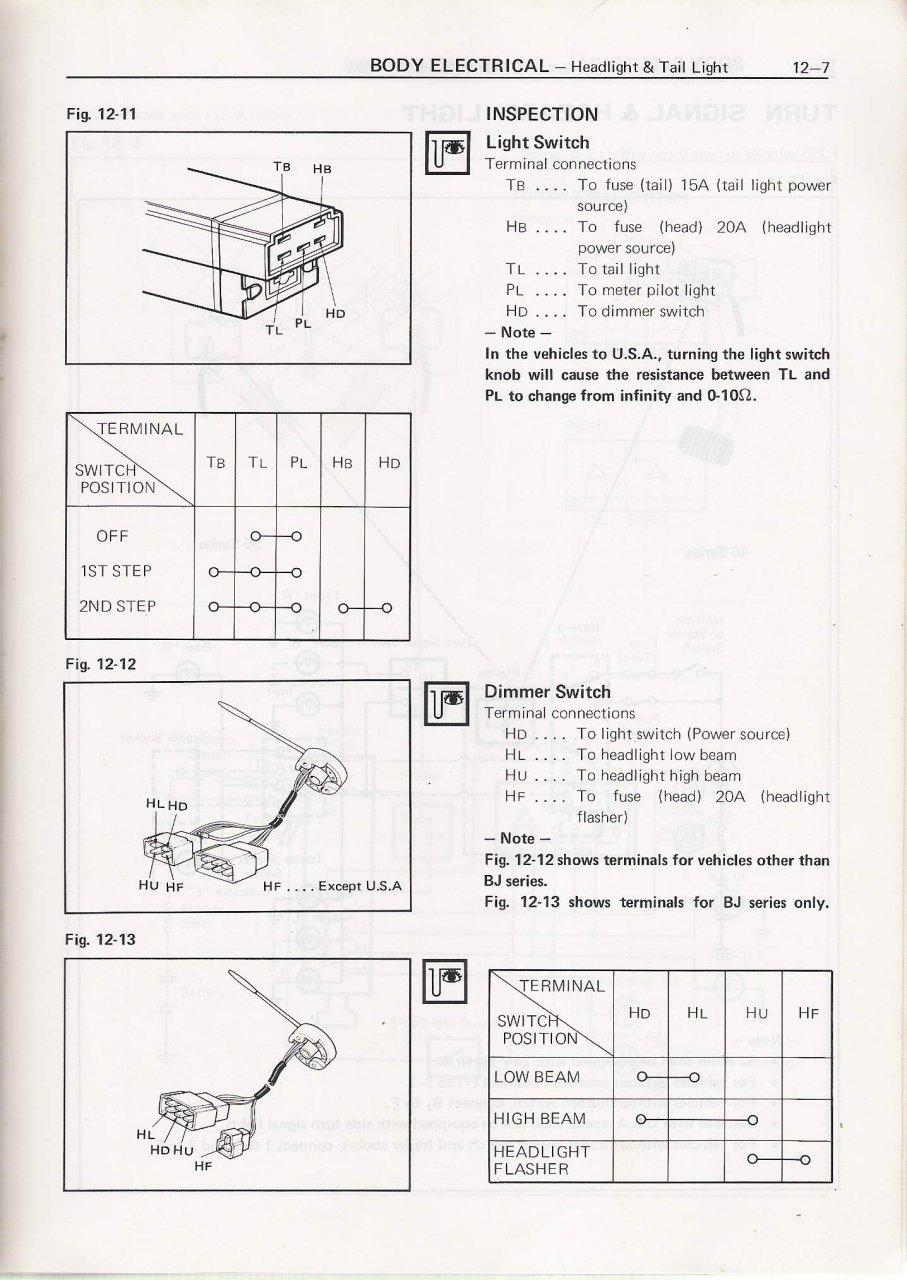 wiring diagram headlight dimmer switch culligan water softener parts 1979 fj40 drama ih8mud forum rudi