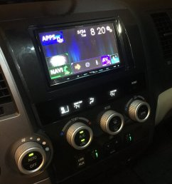 i have a sequoia that has the same radio setup as a tundra i installed a pioneer avic 8100 nex head unit with a crux swrty 61 wiring harness to retain  [ 960 x 1280 Pixel ]