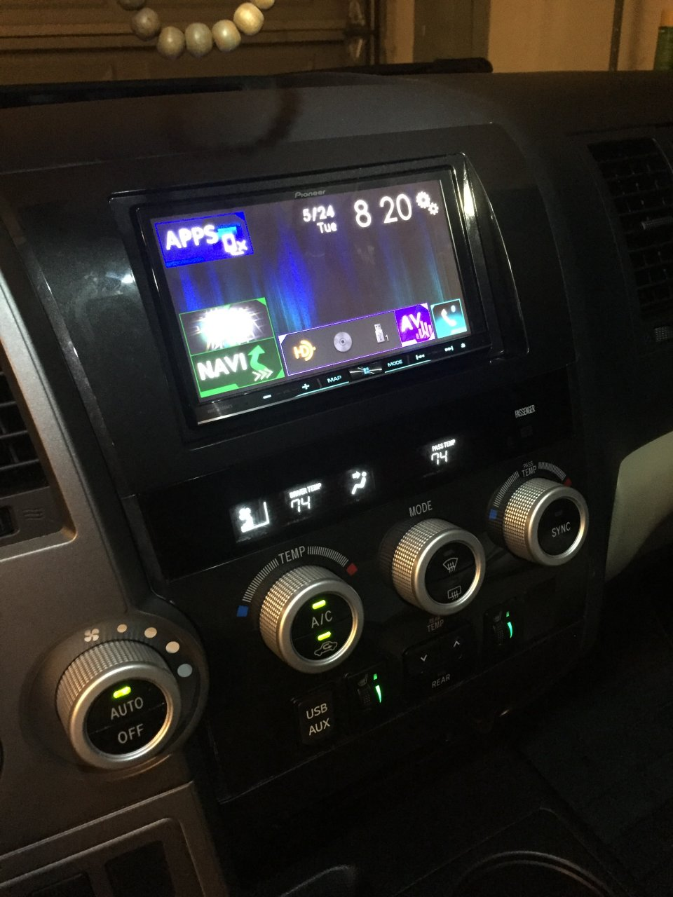 medium resolution of i have a sequoia that has the same radio setup as a tundra i installed a pioneer avic 8100 nex head unit with a crux swrty 61 wiring harness to retain