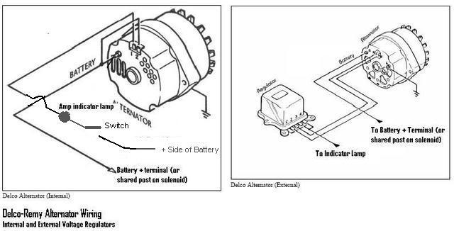 chevy 3 wire alternator diagram
