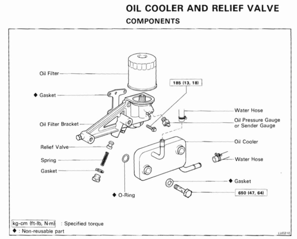 medium resolution of oil cooler parts diagram from 3f manual