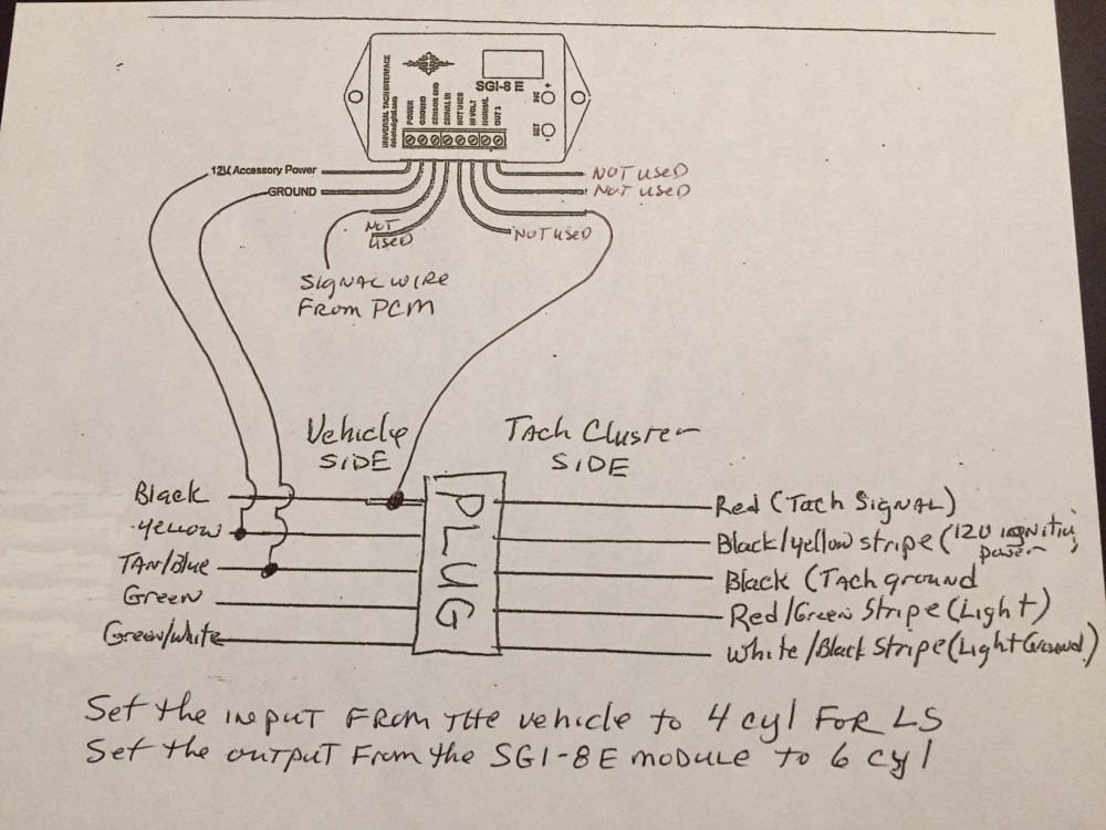 medium resolution of tach wires ls conversion using the stock tach diagram ih8mud forumonly needed minor adjustment to the