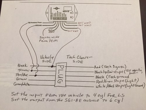 small resolution of tach wires ls conversion using the stock tach diagram ih8mud forumonly needed minor adjustment to the