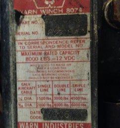 warn date codes on 8074 or 8274 winches ih8mud forum warn winch solenoid wiring diagram  [ 1440 x 1920 Pixel ]