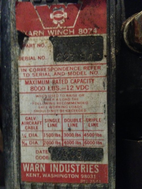 small resolution of  warn date codes on 8074 or 8274 winches ih8mud forum warn winch solenoid wiring diagram