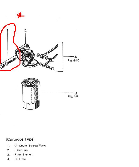 Toyota oil filter bypass valve