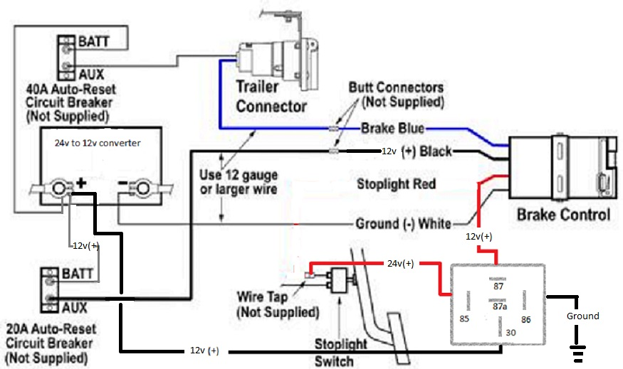 24v trailer plug wiring diagram ibanez 5 way switch cruiser and 12v brakes......? | ih8mud forum