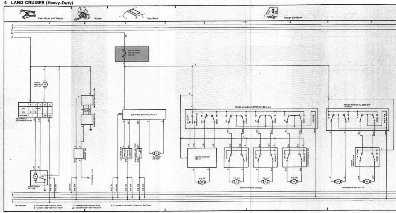 hight resolution of power window wiring diagram fj62 1984 90 chassis body fsm jpg
