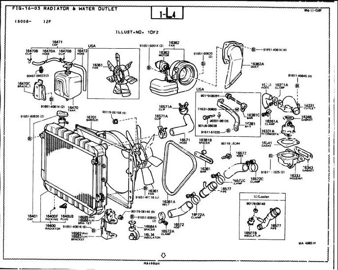 Toyota 22re Engine Diagram Parts List. Toyota. Auto Wiring