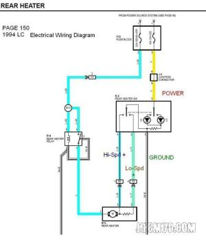 Wiring Mark VIII electric fan with rear heater switch
