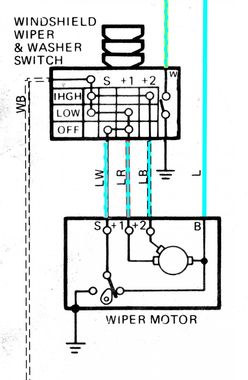 wiper wiring diagram electrics wiper motor wiring one for