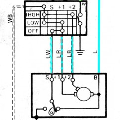 2 Speed Motor Wiring Diagram For Zone Heating System Jeep Wiper Data Wrangler Schematic Tj 87